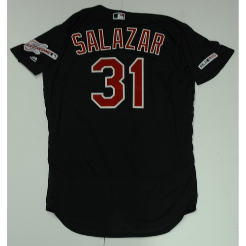 Photo of Danny Salazar Team Issued 2019 Navy Road Alternate Jersey