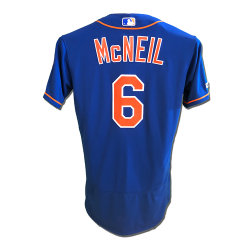 Photo of Jeff McNeil #6 - Team Issued Blue Alt. Home Jersey - 2019 Season