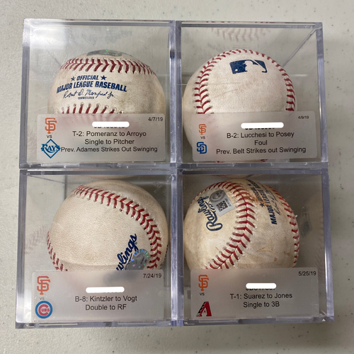 Photo of Mystery Game Used Baseball from 2017-2019 Season! - Guaranteed a Hit or Strikeout!