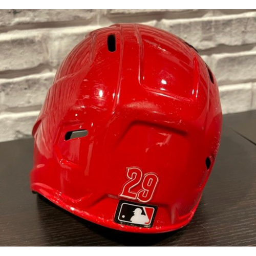 Photo of Christian Colon -- Team-Issued Helmet -- Left Ear Flap -- Size 7 3/8