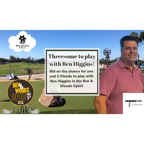 Photo of Threesome to Play Golf at Encinitas Ranch with Ben Higgins