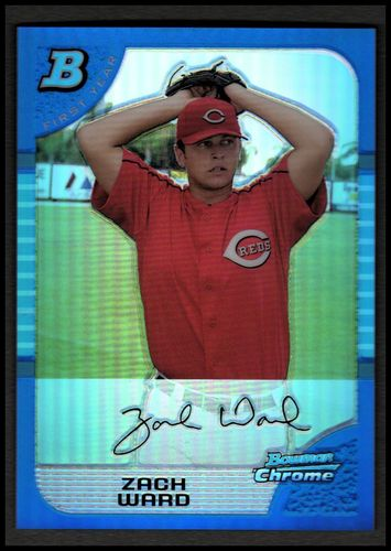 Photo of 2005 Bowman Chrome Draft Blue Refractors #35 Zach Ward FY