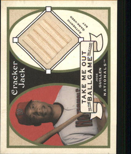 Photo of 2005 Topps Cracker Jack Take Me Out to the Ballgame Mini Relics #JGU Jose Guillen Bat