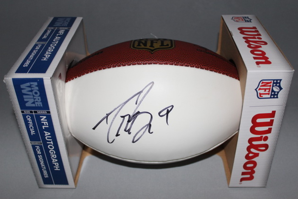 NFL - SAINTS DREW BREES SIGNED PANEL BALL