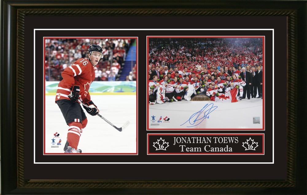 Jonathan Toews Signed 8x10 Double Photo Canada 2010 Olympics