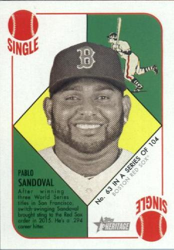 Photo of 2015 Topps Heritage '51 Collection #63 Pablo Sandoval