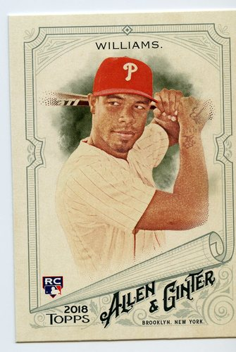 Photo of 2018 Topps Allen and Ginter #313 Nick Williams SP RC