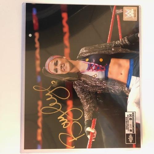 Photo of Bayley SIGNED 8 x 10 Limited Edition WrestleMania Photo (Random Number)