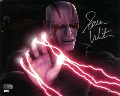 Sam Witwer As Mortis Son 8X10 Autographed in 'Silver' Ink Photo