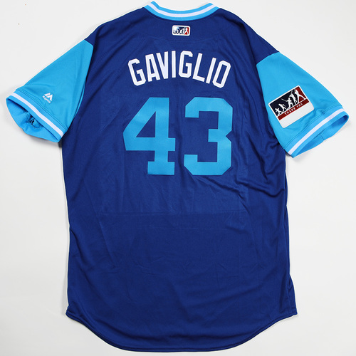 "Photo of Sam ""Gaviglio"" Gaviglio Toronto Blue Jays Game-Used Jersey 2018 Players' Weekend Jersey"