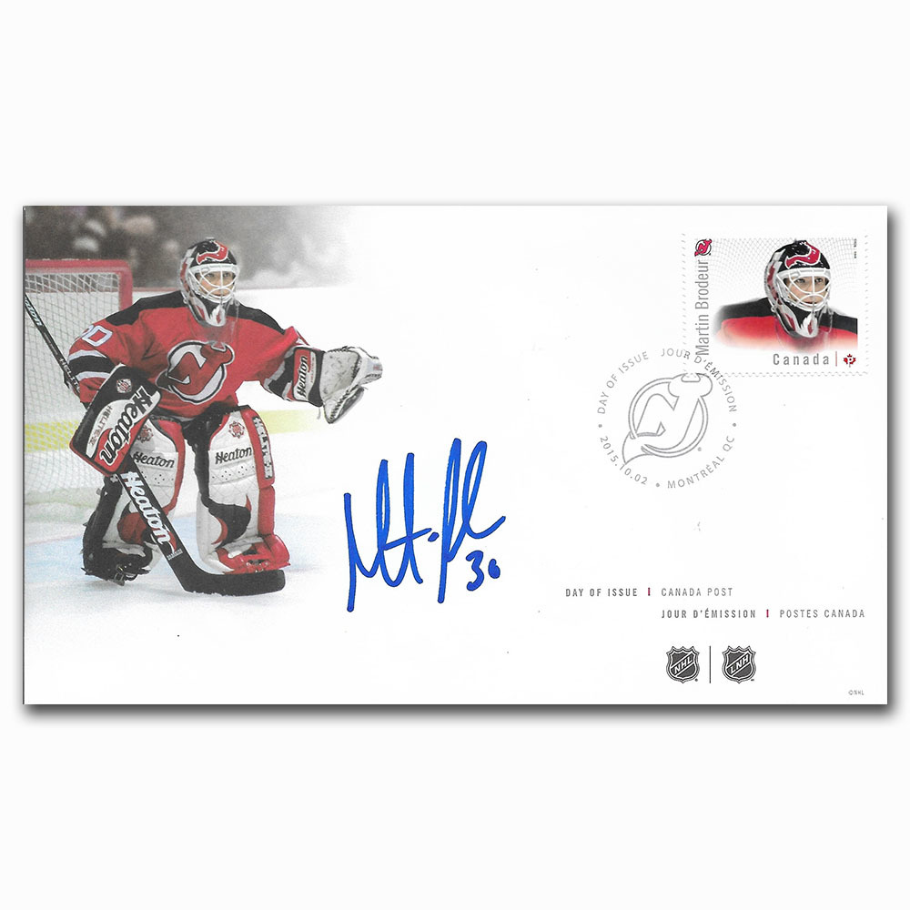 Martin Brodeur Autographed Canada Post First Day Cover