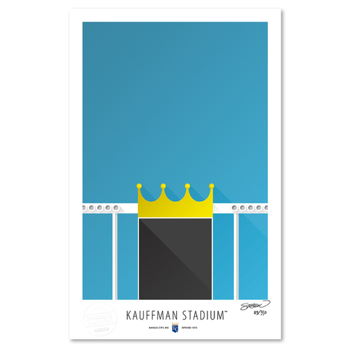 Photo of Kauffman Stadium - Collector's Edition Minimalist Art Print by S. Preston #119/350  - Kansas City Royals