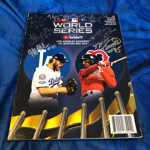 Photo of UMPS CARE AUCTION: 2018 World Series Crew Signed Program