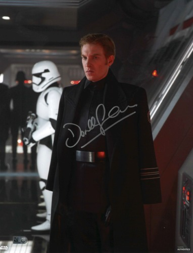 Domhnall Gleeson As General Hux 11X14 AUTOGRAPHED IN 'SILVER' INK PHOTO
