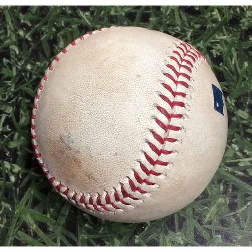 Photo of Game-Used Baseball STL@MIL 06/22/18 - Junior Guerra - Yadier Molina: Single