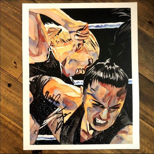 Mandy Rose & Sonya Deville SIGNED 11 x 14 Art Print