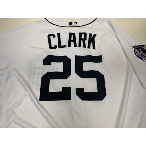 Photo of Game-Used Jack Morris Number Retirement Jersey: Dave Clark