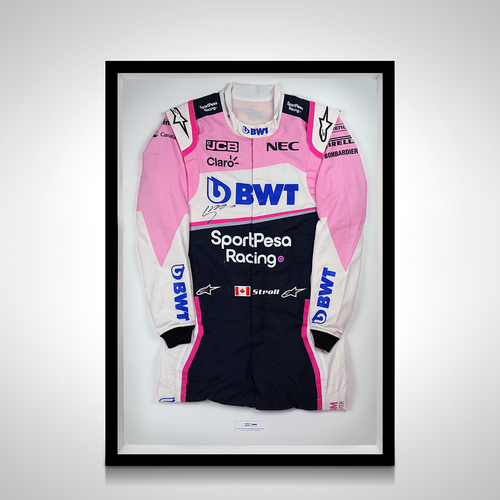 Photo of Lance Stroll 2019 Framed Signed Test-worn Race Suit - SportPesa Racing Point ...