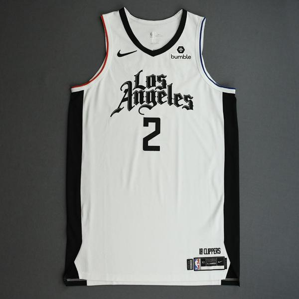 Image of Kawhi Leonard - Los Angeles Clippers - Game-Worn City Edition Jersey - 2019-20 Season  - Scored 24 Points