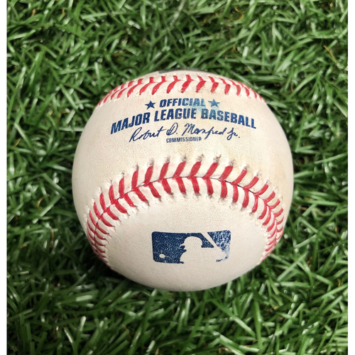Photo of Game Used Baseball: Victor Robles foul ball off Aaron Loup - September 16, 2020 v WSH