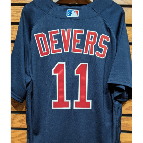 Photo of Rafael Devers #11 Team Issued Navy Road Alternate Jersey