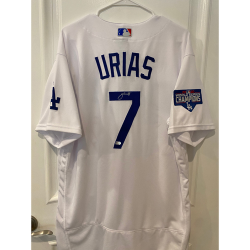 Photo of Julio Urias Authentic Autographed Los Angeles Dodgers Jersey