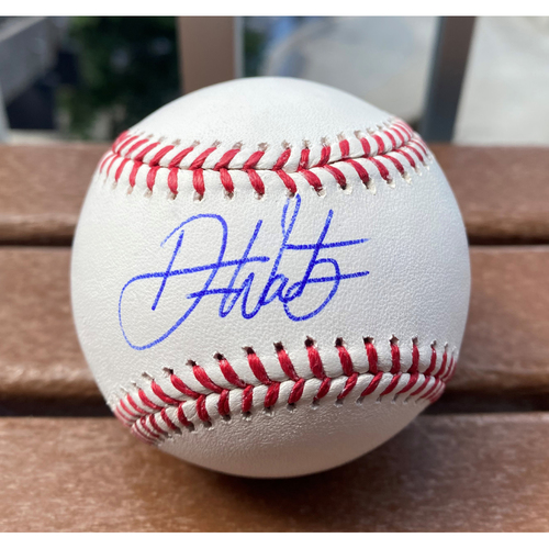 Photo of MLB All Star Futures Game Player, Drew Waters MLB Authenticated Autographed Baseball.