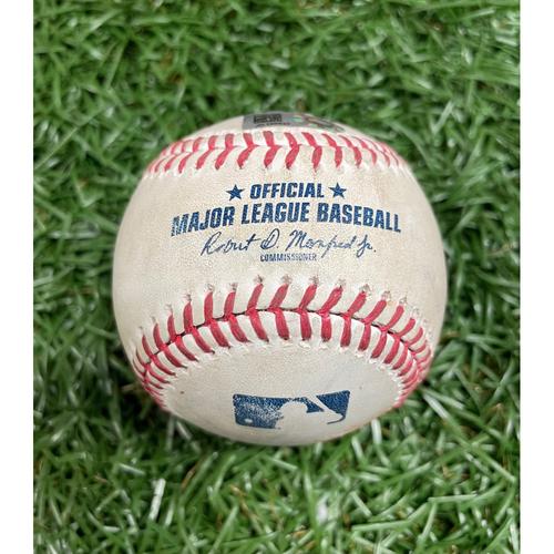 Photo of Game Used Baseball: Yairo Munoz double off Charlie Morton - Top 1 - September 13, 2020 v BOS