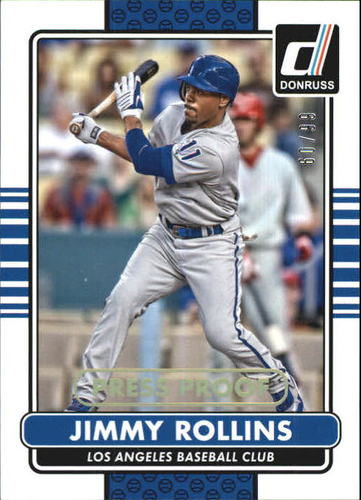 Photo of 2015 Donruss Press Proofs Gold #136 Jimmy Rollins