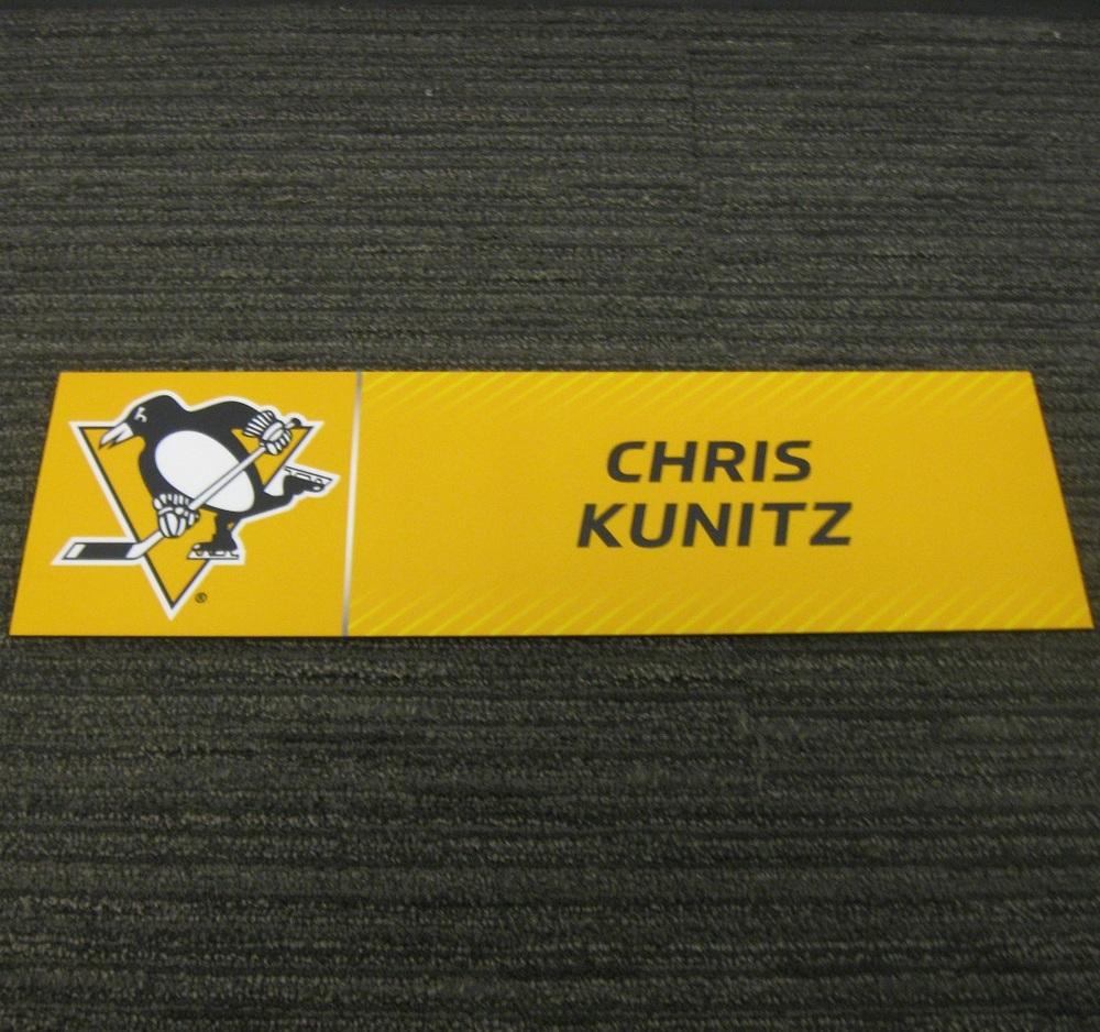 Chris Kunitz 2017 Stanley Cup Final Media Name Plate - Pittsburgh Penguins