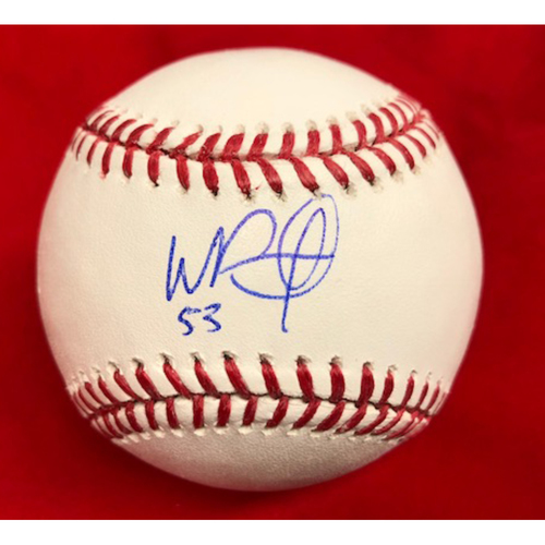 Photo of Wandy Peralta -- Autographed Baseball
