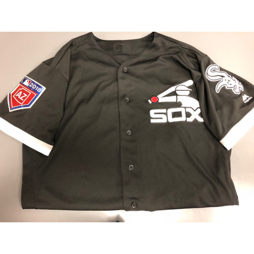 Photo of Adam Engel Team-Issued 2018 Spring Training Jersey - Not MLB Authenticated - Size 46