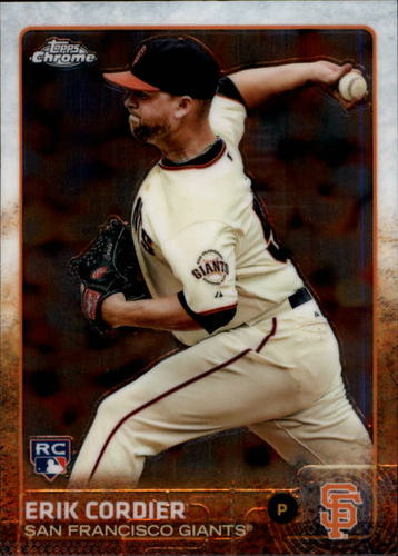 Photo of 2015 Topps Chrome #145 Erik Cordier RC