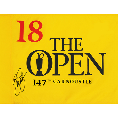 Photo of Rickie Fowler, The 147th Open Carnoustie Autographed Souvenir Pin Flag