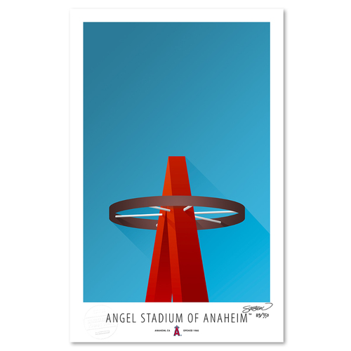 Photo of Angel Stadium - Collector's Edition Minimalist Art Print by S. Preston #119/350  - Anaheim Angels