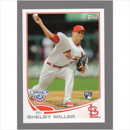 Photo of 2013 Topps Opening Day #72 Shelby Miller Rookie Card