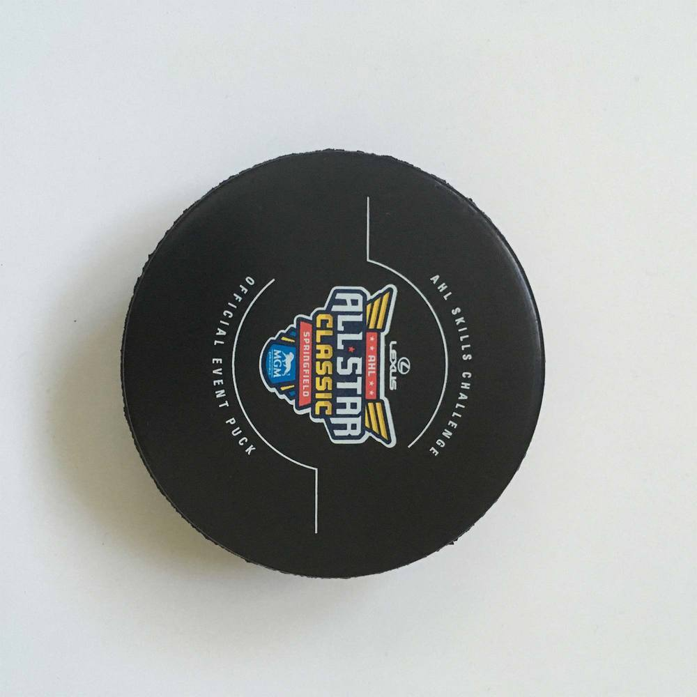 2019 Skills Competition ASC Lexus Accuracy Shooting-Used Puck- #9 Trevor Moore