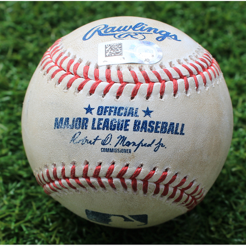 Photo of Game-Used Baseball: Joey Gallo 53rd Career Double (TEX @ KC - 5/13/19)
