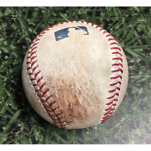 Photo of Game-Used Baseball PHI@MIL 06/15/18 - Brent Suter - Scott Kingery: Single