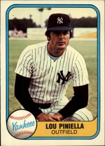 Photo of 1981 Fleer #85 Lou Piniella