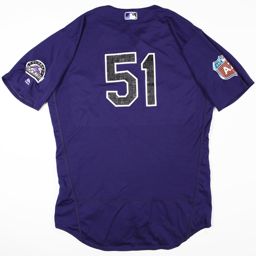 Photo of 2016 Spring Training - Spring Training Game Used Jersey - Jake McGee (Rockies)- Size- 48