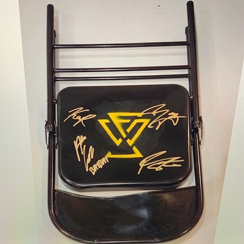 2020 NXT Men's WarGames Match SIGNED and USED Undisputed Era Logo Chair