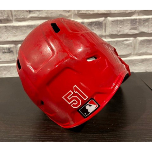 Photo of Justin Shafer -- Team-Issued Helmet -- Right Ear Flap -- Size 7 3/8