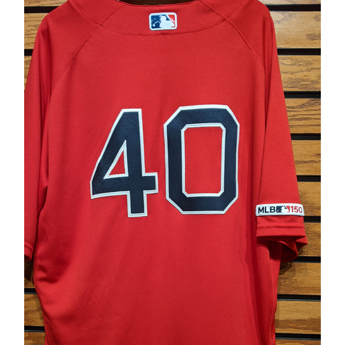 Photo of Marco Hernandez #40 Game Used Red Home Alternate Jersey