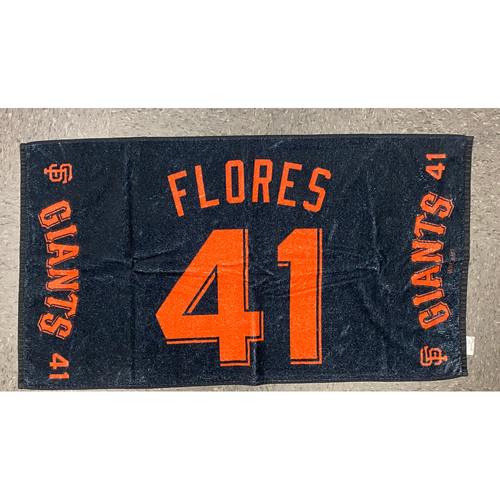 "Photo of 2020 Team Issued Player Towel - #41 Wilmer Flores - Towel Measurements - 40""x20"""