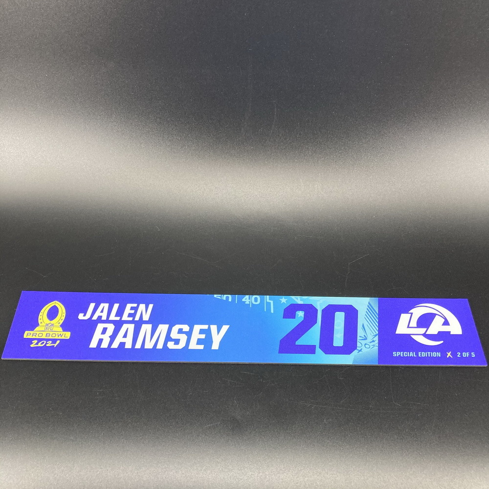 NFL - Rams Jalen Ramsey 2021 Pro Bowl Locker Nameplate Special Edition #2 of 5