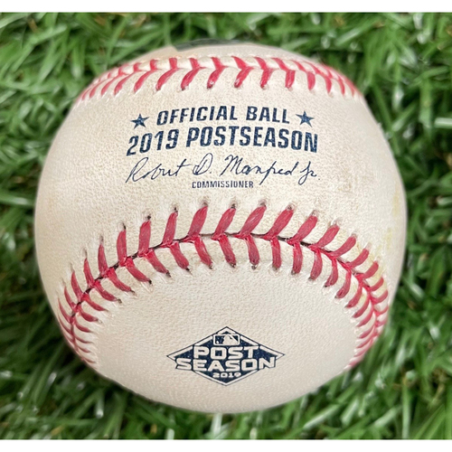 Photo of Game Used ALDS Game #4 Baseball: Colin Poche strikes out Aledmys Diaz - Top 8 - October 8, 2019 v HOU