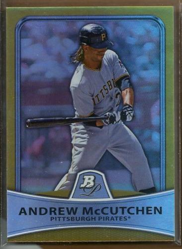 Photo of 2010 Bowman Platinum Gold Refractors #39 Andrew McCutchen