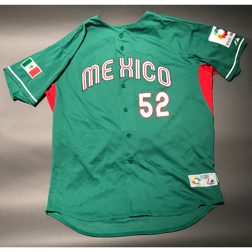 2009 World Baseball Classic Jersey - Mexico Road Jersey, Dennys Reyes #52