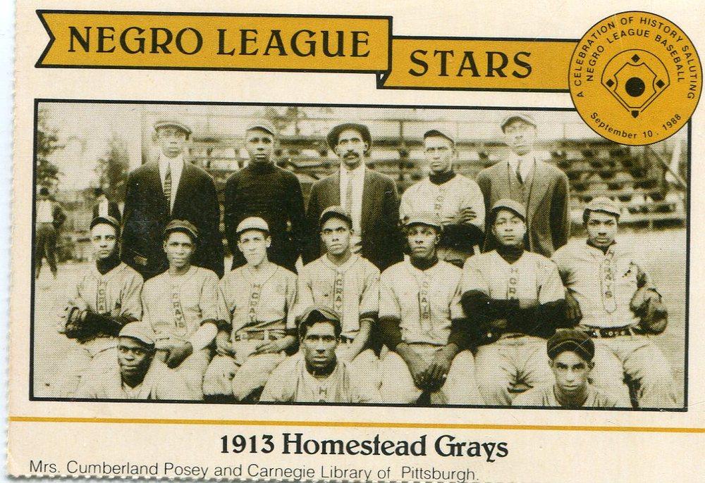 1988 Negro League Duquesne Light Co. #2 1913 Homestead Grays